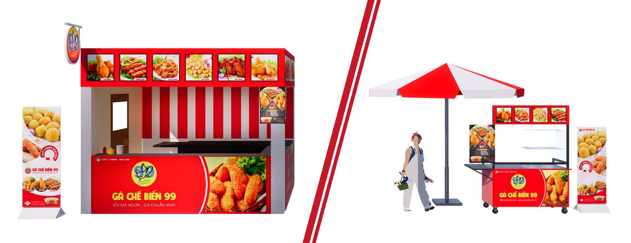 Cửa hàng gà chế biến 99